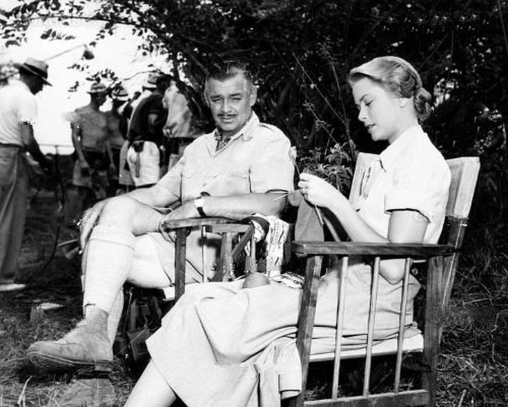 MOGAMBO, from left, Clark Gable, Grace Kelly, on location in Tanganyika, 1953