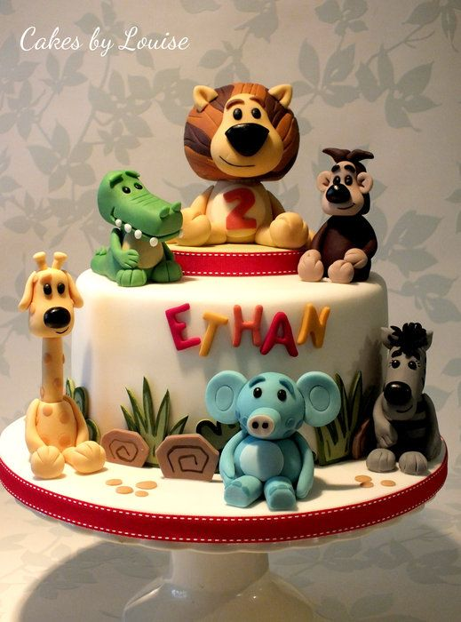 Raa Raa The Noisy Lion and Friends - by cakesbylouise @ CakesDecor.com - cake decorating website