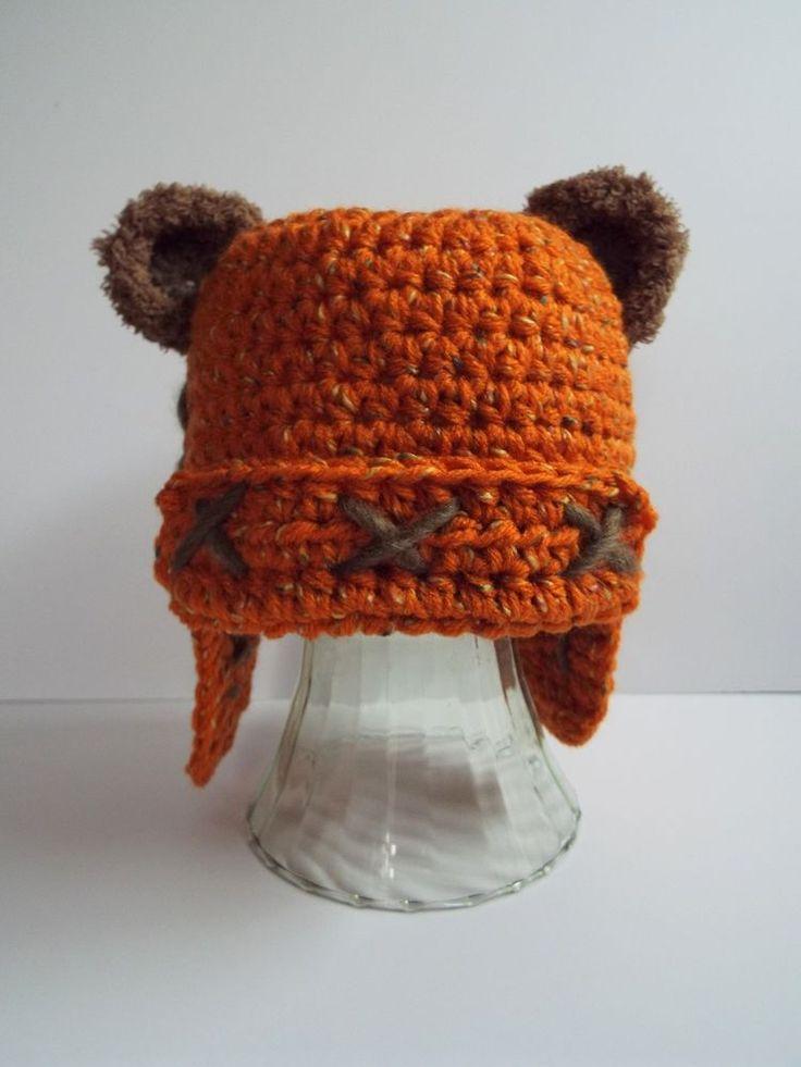 #starwars ewok inspired crochet winter hat handmade girl or boy 6-12 months from $12.0