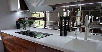 Exklusive Spiegelfliesen 0,81m2 FACETTIERT  18Stück Luxus Wandfliesen 15x30cm