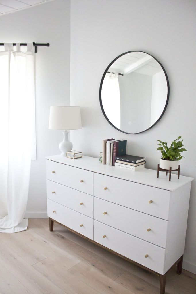 Modern White Dresser: A West Elm Inspired Ikea Hack