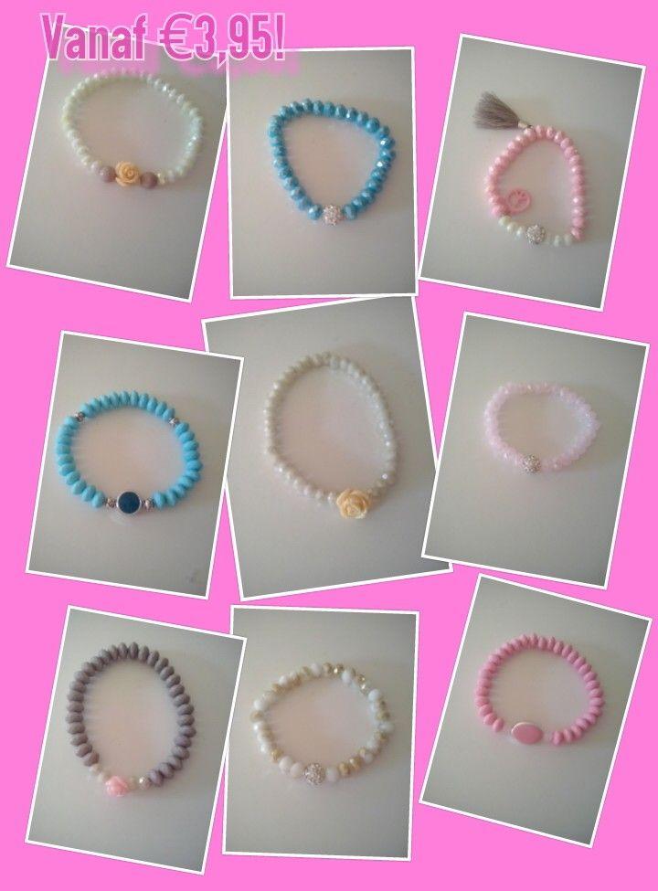 Vrolijke armbandjes vanaf €3,95!! Voor info of bestelling zie restylebyme/facebook.com