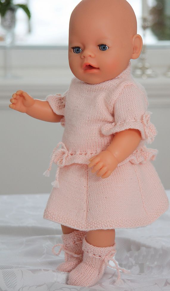 Doll knitting patterns Baby born