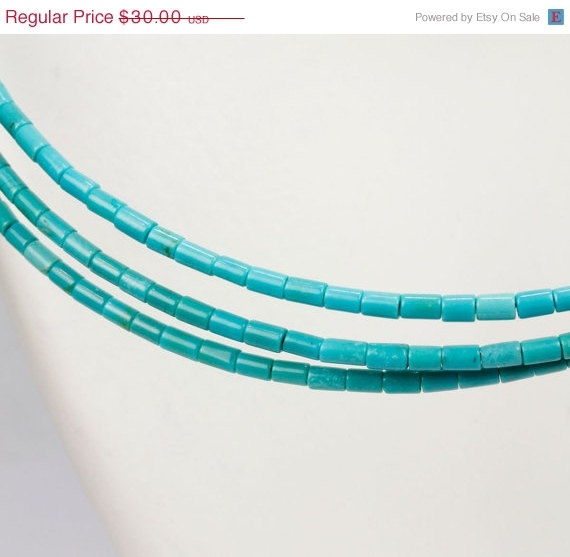 ON SALE Sleeping Beauty Turquoise Heishi by rocksamillion on Etsy, $25.50