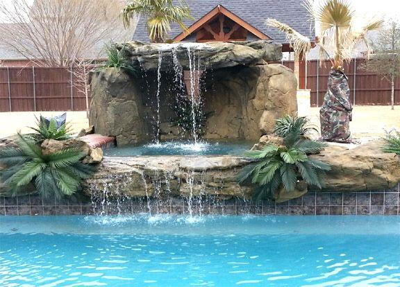 8 best cascadas para piscina images on pinterest for Cascadas de piscinas