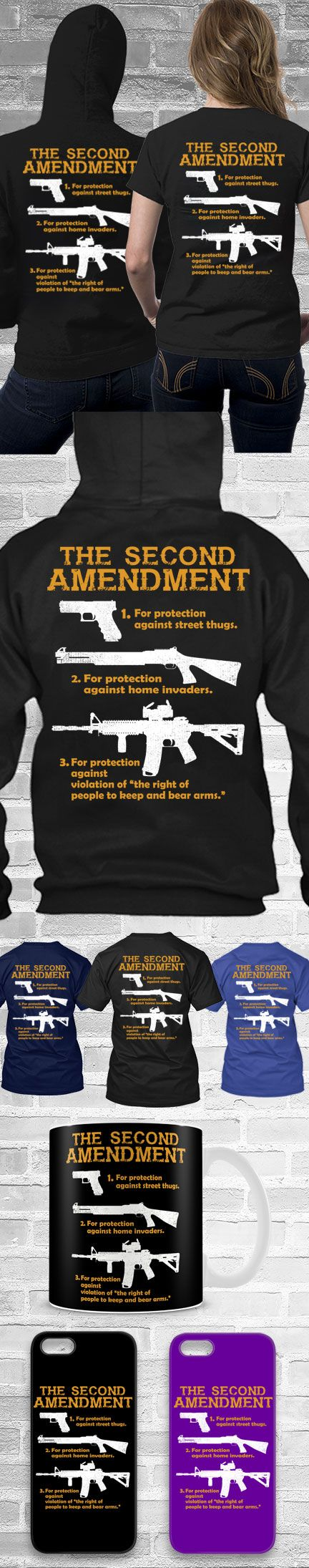 The Second Amendment Shirts! Click The Image To Buy It Now or Tag Someone You Want To Buy This For.  #secondament