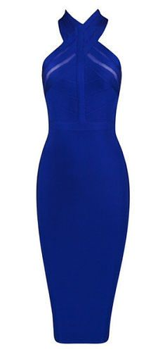 elegant, sexy, body-con fit, length below knee , back zipper, mesh detail to…