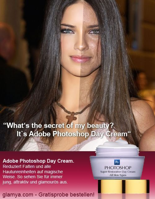 Photoshop Day Cream. Before and after gallery
