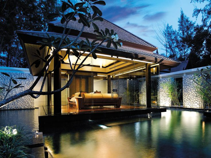 Your private wading pool, accessed directly from the foot of your bed. DoublePool Villas by Banyan Tree, Thailand  www.islandescapes.com.au