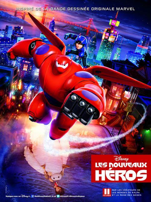 affiche du film les nouveaux héros disney marvel http://www.papa-blogueur.fr/concours-les-nouveaux-heros-de-disney-places-de-cinema-et-goodies-gagner