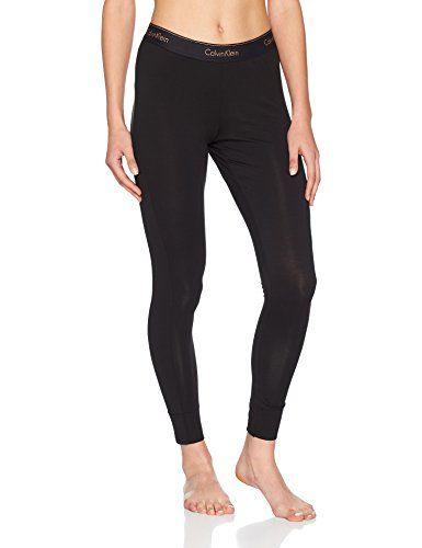 ab8da53b7848 cool Calvin Klein Damen Hose Legging, Schwarz (Black (Stencil Logo Rose  Gold Glitter)