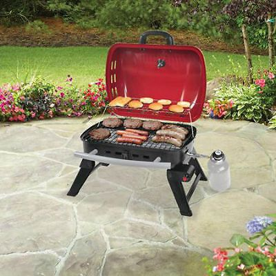 Portable Gas BBQ Grill  Backyard Barbecue Outdoor Camping  Burner Smoker NEW