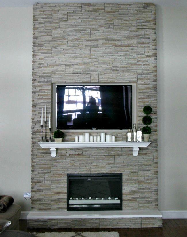 diy fireplace building a fireplace using stone veneer. Black Bedroom Furniture Sets. Home Design Ideas