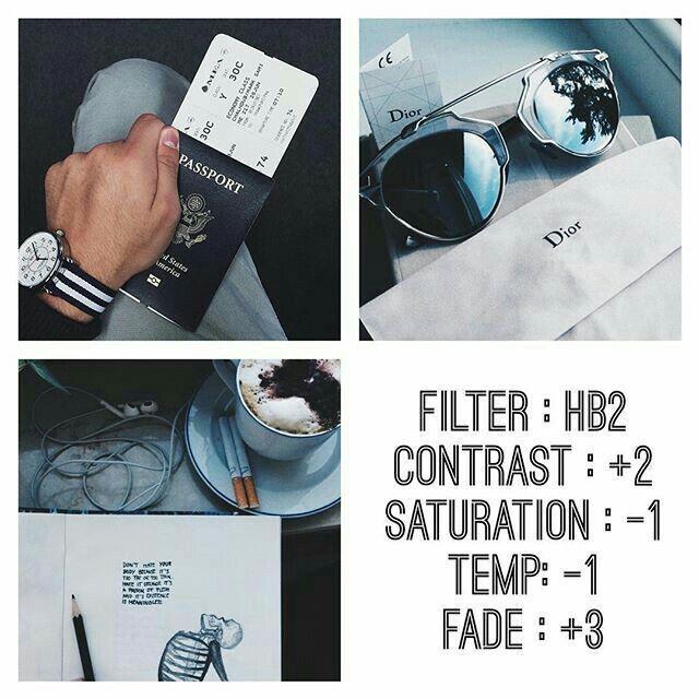 VSCO Cam Filter Settings for Instagram Photos | Filter HB2  Dark Blueish Effect