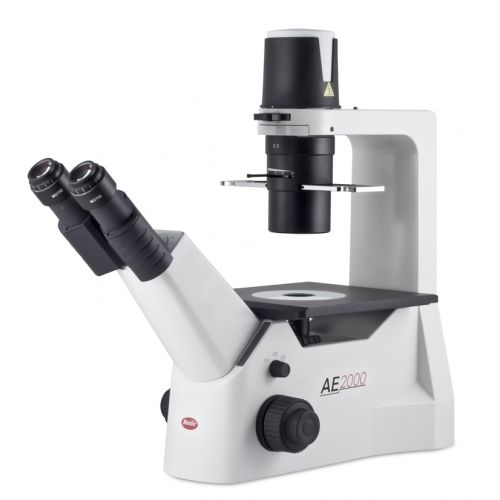 Designed for live cell inspection, the Motic AE2000 Inverted Microscope is ideal for Educational, Clinical and Laboratory use. The CCIS Plan Achromatic objectives provides high image quality for viewing living organisms, cell cultures and tissue culture samples.