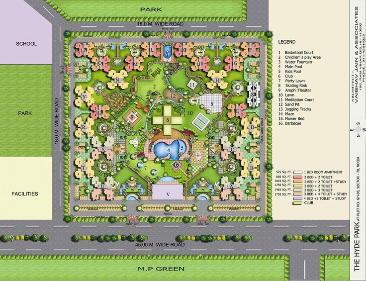 The Hyde Park Noida - Site Plan.    http://www.investmentmantrahomes.com/7-TheHydePark.html