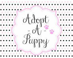 8x10 adopt a puppy sign