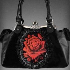 """Red Rose"" Gothic Lolita Handbag. www.nixdungeon.co.nz"