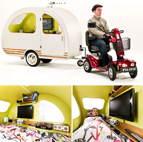 When would you ever need one of these? QTvan Mini Camper Trailer Designed For Use With Electric
