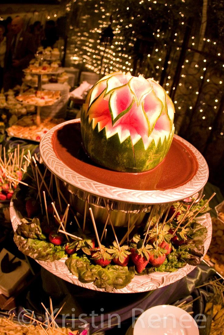 Appetizers, wedding appetizers, kristin renee photographer, appetizer ideas, strawberries, watermelon, creative ways to cut watermelon http://www.kristinrenee.com