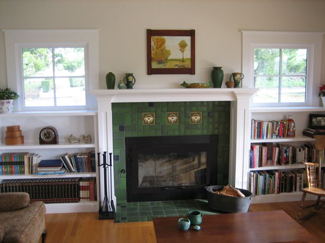 Motowi Tile Fireplace Arts And Crafts Style Image