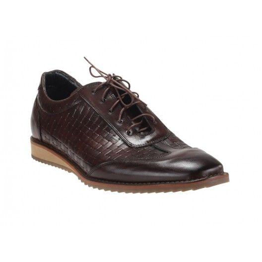 Pánske značkové kožené športové topánky hnedej farby Comodoesano Italy - fashionday.eu