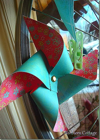 How to make a pinwheel- perfect for the preschool kids during the week of wind :)