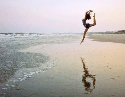 woman dancing...dusk!