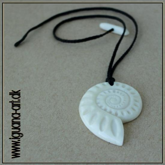 Bone carved pendant