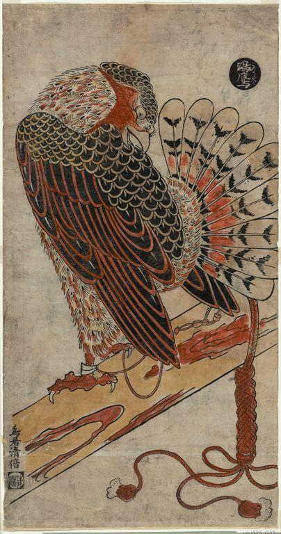 鳥居清倍: A Male Hawk - シカゴ美術館