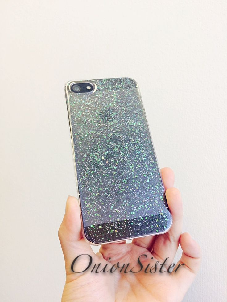 Cute Resin Phone Case Sparkle Phone Case | Clear Phone Case | Bling Bling | iPhone case Glitter 5 / 5s | iPhone 6 / 6 Plus | iPhone SE Case by OnionSister on Etsy