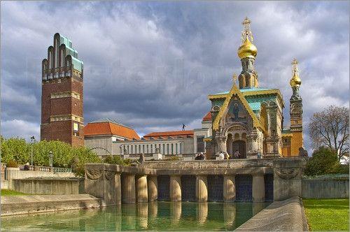 """Bild von Fine Art Images - """"Darmstadt Mathildenhöhe russich orthodoxe Kirche"""""""