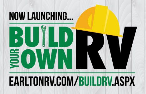 We just launched our new Build Your Own RV feature on our website! Pick and choose the features you want and customize your very own RV! Try it out today http://earltonrv.com/buildrv.aspx