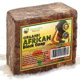 Organic African Black Soap  1lb (16oz) Best for Acne Treatment Eczema Dry Skin Psoriasis Scars Dermatitis White Heads Pimples Anti-fungal Face & Body Wash Raw Handcrafted Beauty Scrub Bar