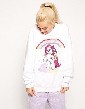 Size 6 or 8!  ASOS+Sweatshirt+with+My+Little+Pony+Print