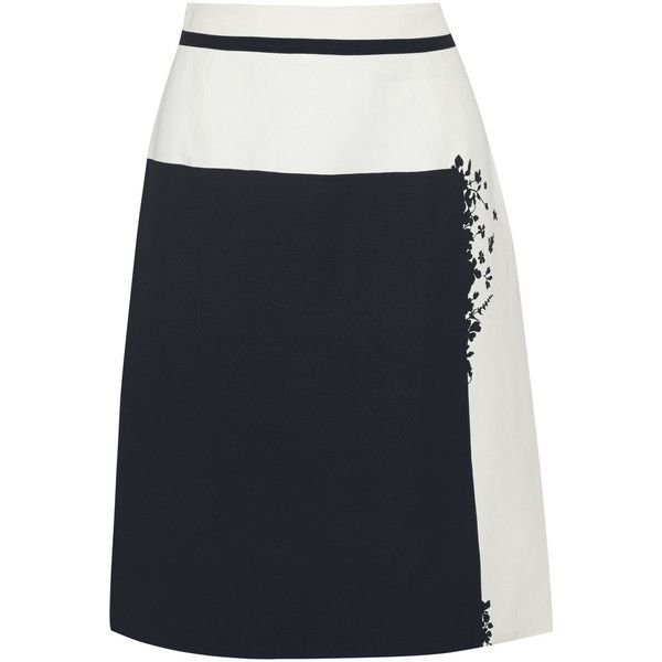 Preen by Thornton Bregazzi Shadow printed crepe skirt (€435) ❤ liked on Polyvore