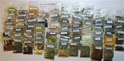 Herbs in mini bags