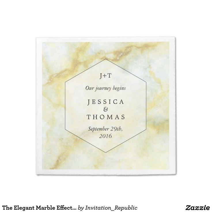 The Elegant Marble Effect Wedding Collection Napkin