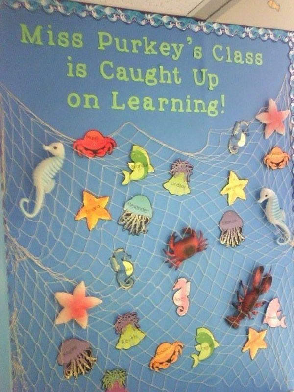 353 best under the sea ideas images on pinterest for Creative bulletin board ideas