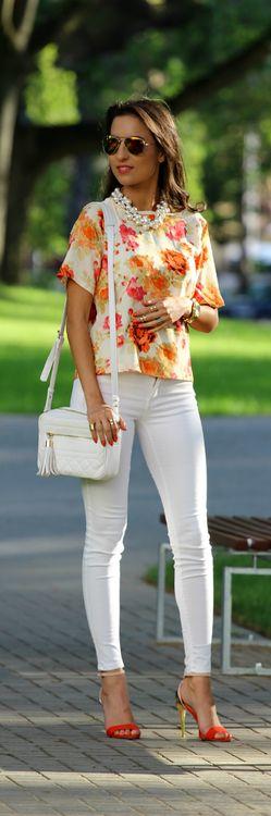Orange Flowers -   Style  Blog