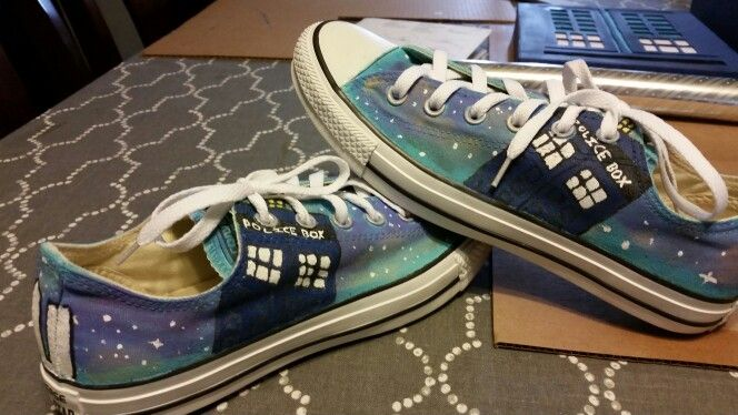 The Doctor Who shoes I made for my neice.