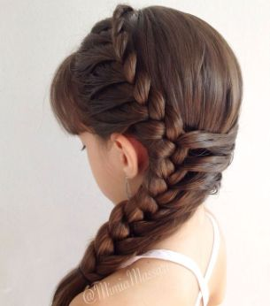peinados de niña para fiesta - Buscar con Google