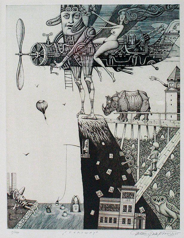 STARTWAY, 39x30 cm, lept / etching