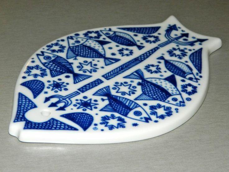 Porsgrund Norway fish shaped ceramic trivet
