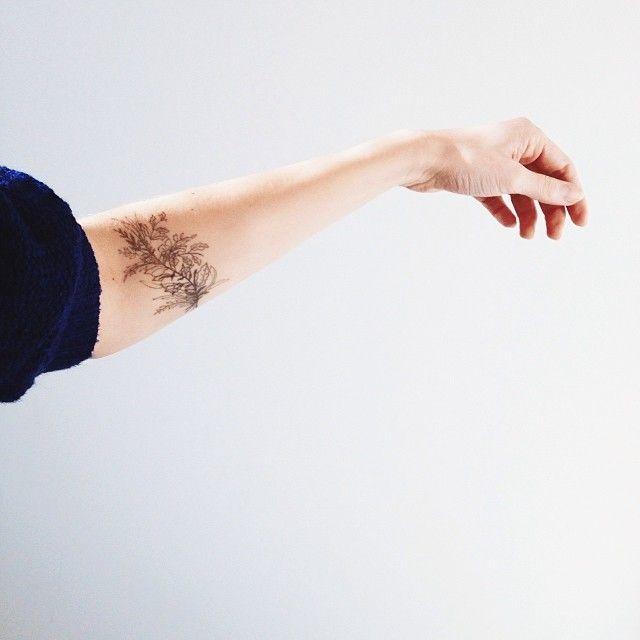 Simple, élégant. Emplacement pour tatouage fougère.