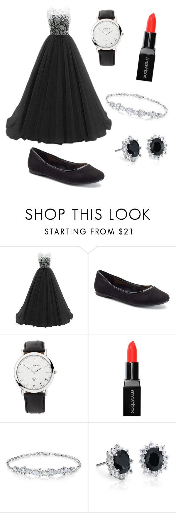 """""""Leah 13"""" by slytherincookie on Polyvore featuring LC Lauren Conrad, Links of London, Smashbox and Blue Nile"""