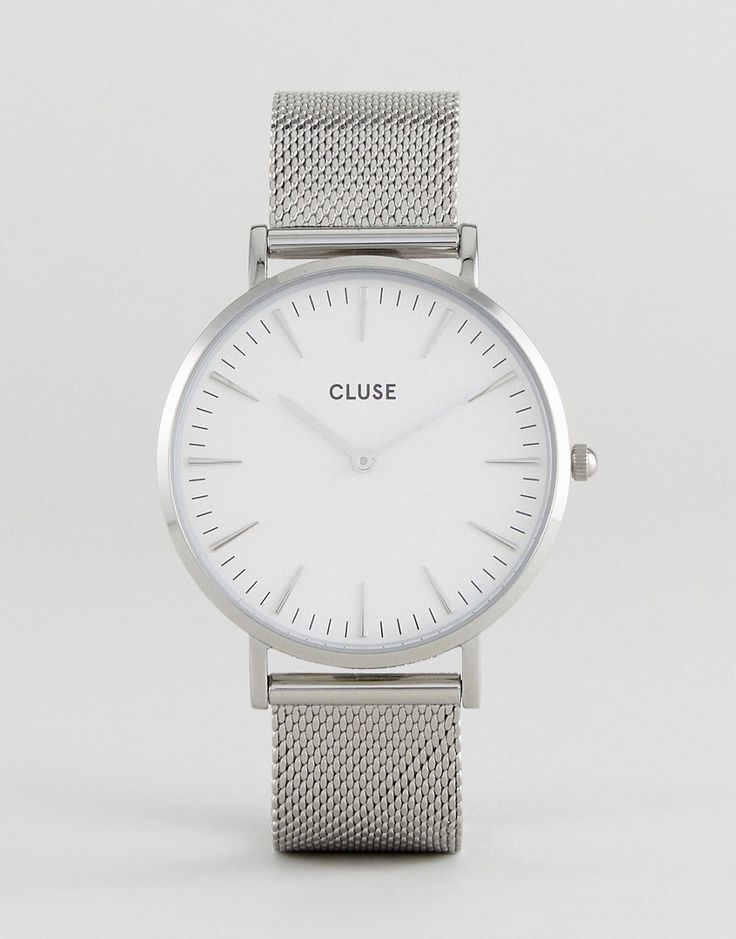 CLUSE CL18105 La Boh�me Mesh Watch In Silver/White - Silver