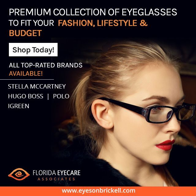 We carry the latest style eyewear collection in a variety of styles, colors and materials. Visit us to buy the one that suits your lifestyle and fashion http://floridaeyecareassociates.com/eyesonbrickell  #EyeWear #Eyeglasses #Sunglasses #Miami