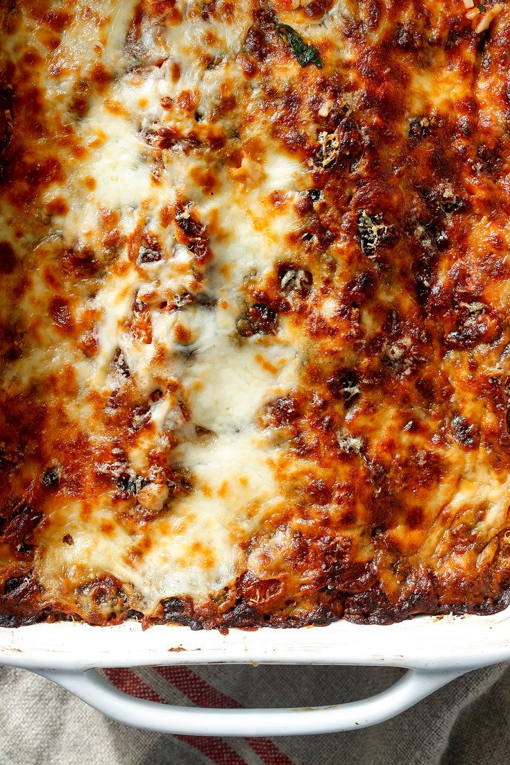 NYT Cooking: Equal parts indulgent and virtuous, this meatless lasagna from Mark Bittman will please everyone at the table. Serve it with a green salad on a weeknight, or alongside a platter of meatballs for Sunday dinner. And listen: We won't tell anyone if you use no-bake noodles or frozen spinach. It's all good either way.