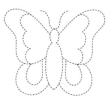 Molde para acolchar de Mariposa